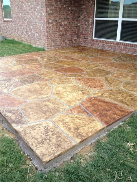 Stained Concrete Patio Pictures - 29 best images about stained concrete patios on