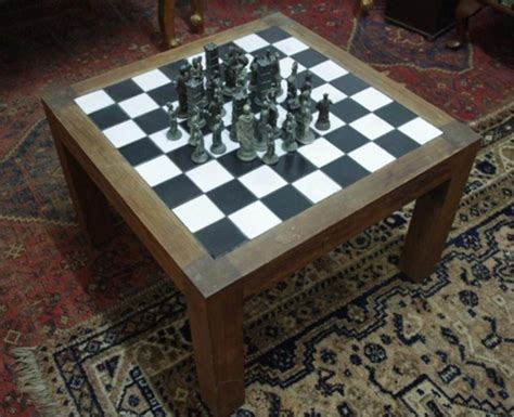Chess Coffee Table Tiled Coffee Table Chess Board November Special Auction Antiques Collectables