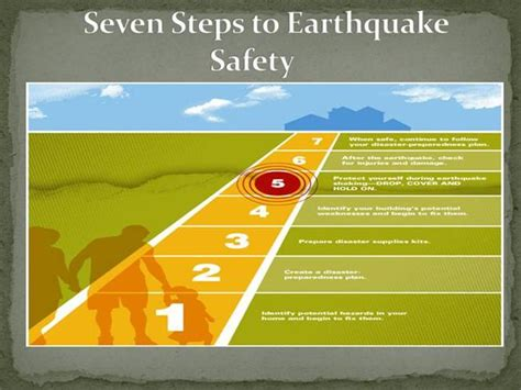earthquake hazards ppt seven steps to earthquake safety authorstream