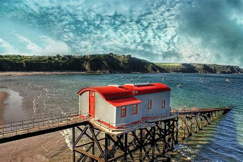 house tenby tenby lifeboat house photograph by julie l hoddinott