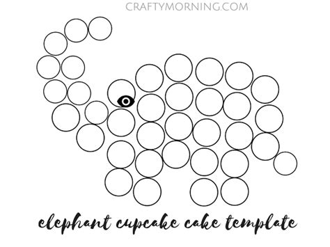 printable elephant cupcake cake ideas and designs