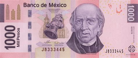 currency mxn 1000 mexican pesos banknote series f exchange yours