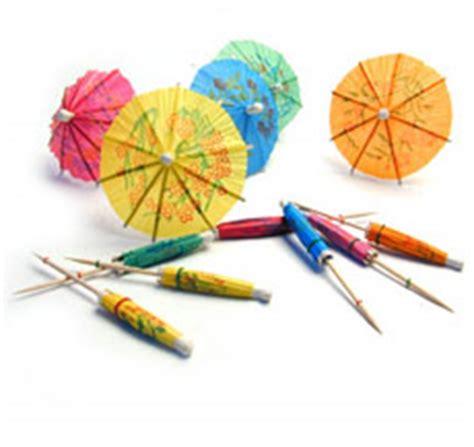 How To Make Paper Umbrella For Drinks - paper cocktail umbrellas rainwear
