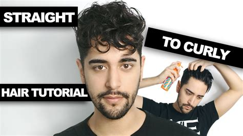 how to get curly hair for men perm tutorial youtube straight to curly hair how to get curly hair men s hair