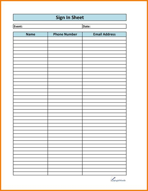 printable sign up sheet authorization letter pdf
