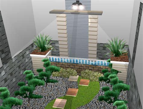 desain taman bunga mini arsitek profesional jasa desain gambar rumah minimalis