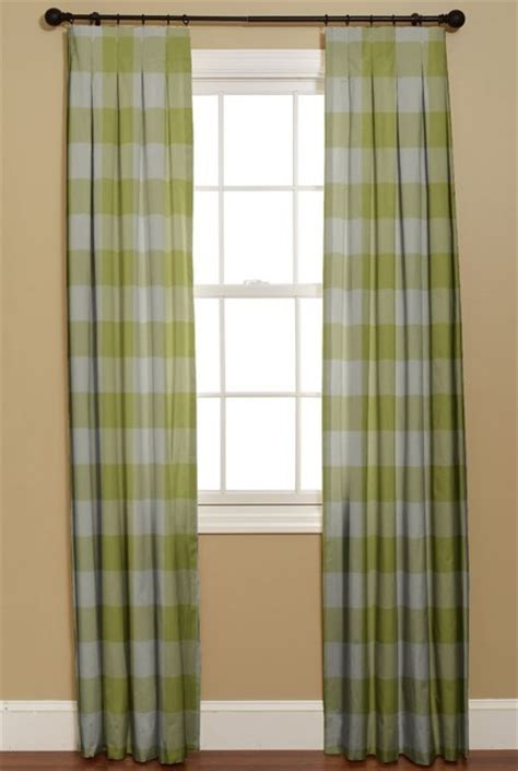 box pleat curtains inverted box pleat curtain buffalo check limeade modern