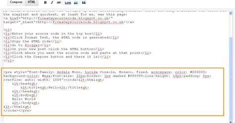 format html xcode michael s techblog source code formatting in blogger