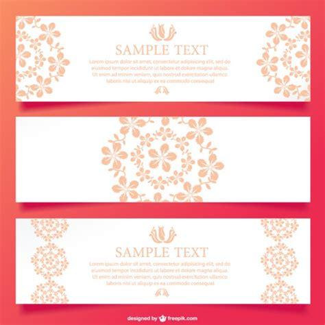 layout banner vector floral ornamental banner design vector free download