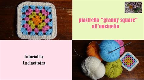 youtube tutorial granny square piastrella granny square all uncinetto tutorial youtube