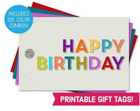 printable gift card tags happy birthday card printable gift tag bundle children s