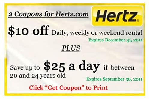 coupons for hertz rental car