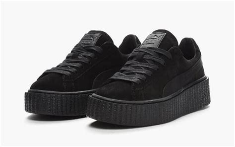 Rihanna X Creeper Black x rihanna basket creepers black the sole