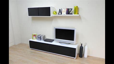 mueble de salon comedor mesa tv modulo alto color