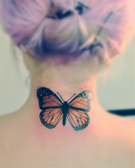 butterfly tattoo on back 63 beautiful neck butterfly tattoos