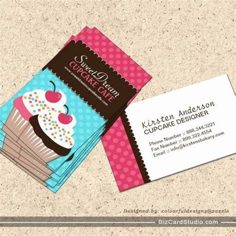 Cupcake Business Cards Templates by 22 Best Business Card Images On Bakery