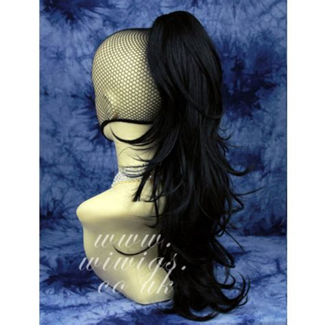 Wig Hairclip Ponytail Poni wiwigs black ponytail w166m