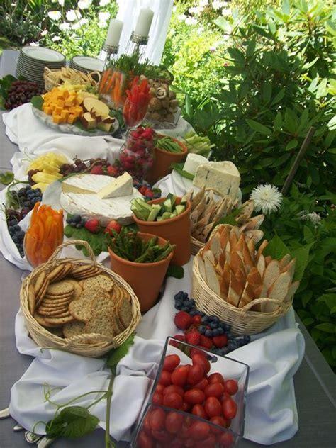 backyard wedding food outdoor buffet table settings woodworking projects