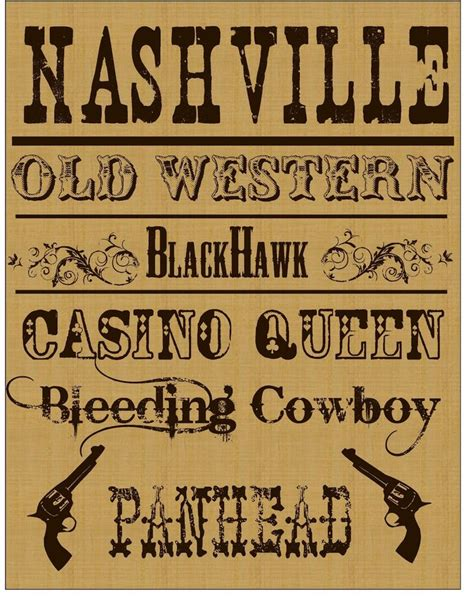 best 25 western fonts ideas on