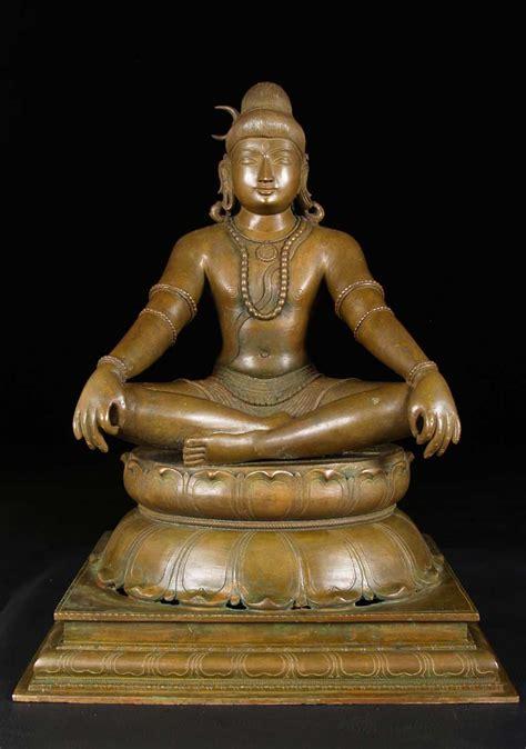 god statue sold bronze meditating yogi shiva statue 21 quot 9bc24