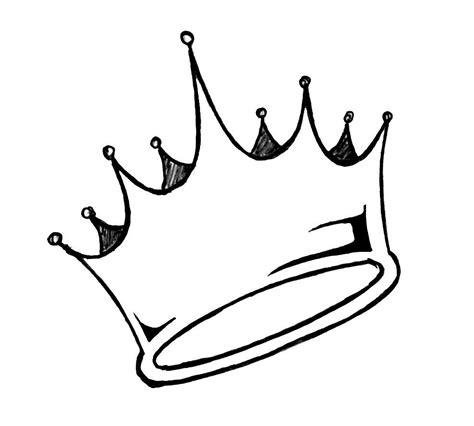 simple crown coloring page work of art