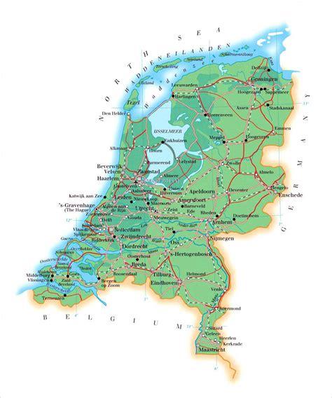 barneveld netherlands map kaart nederland in hoge resolutie voor