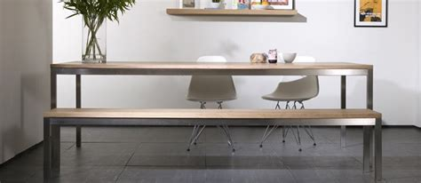 oak and steel dining table 20 sleek stainless steel dining tables