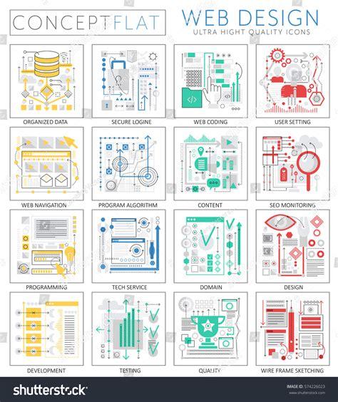design concept elements infographics mini concept web design icons stock vector
