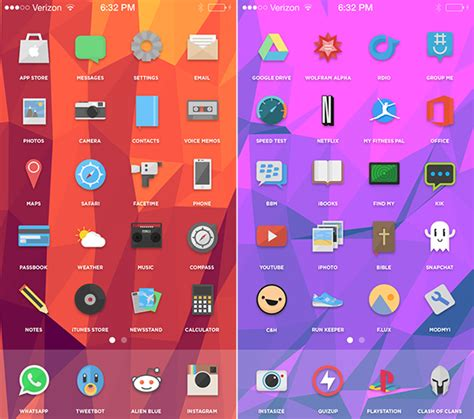 elite7 is an iphone theme that goes far beyond custom icons check out these 3 colorful ios theme setups