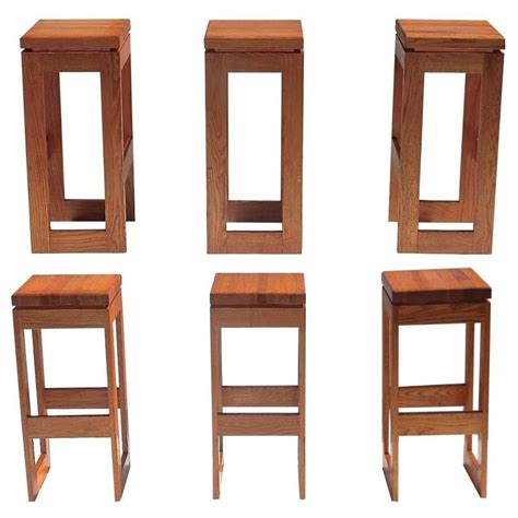 bar benches for sale set of 6 butcher block block bar stools for sale at 1stdibs