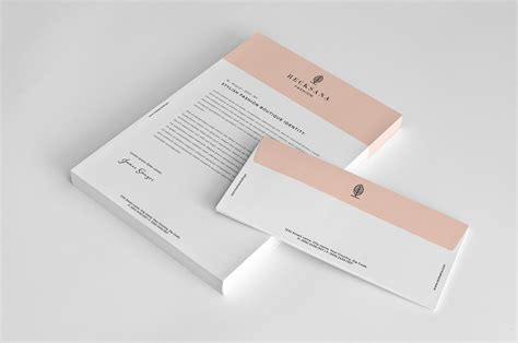 business card letterhead envelope mockup stylish stationery set on behance