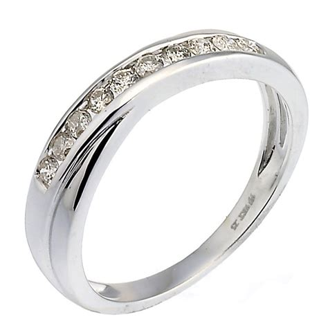 9ct white gold 0 25ct crossover eternity ring