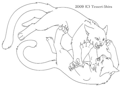 coloring pages of warrior cats fighting warrior cats warrior coloring pages pinterest
