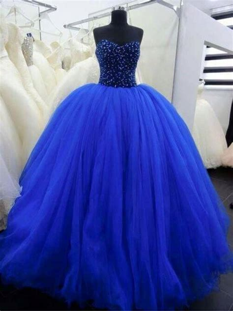 Bjg Blue Dress stunning royal blue big gown tulle prom dress sweet