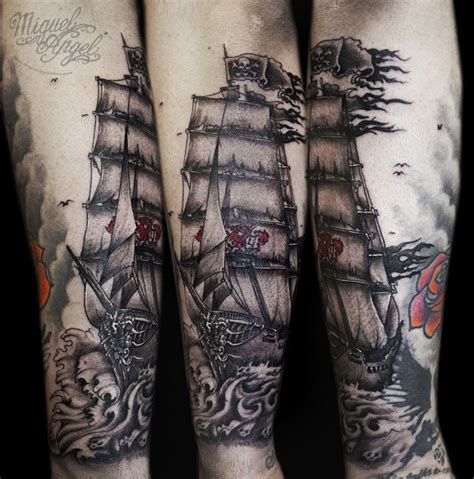 ghost ship tattoo designs ship tattoos