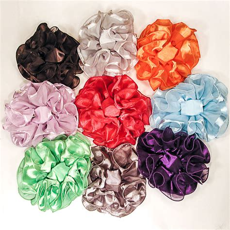 Bow Hair Claw large claw clip hair bows large ruffled solid color