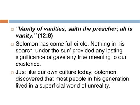 What Vanity Means by Ecclesiastes