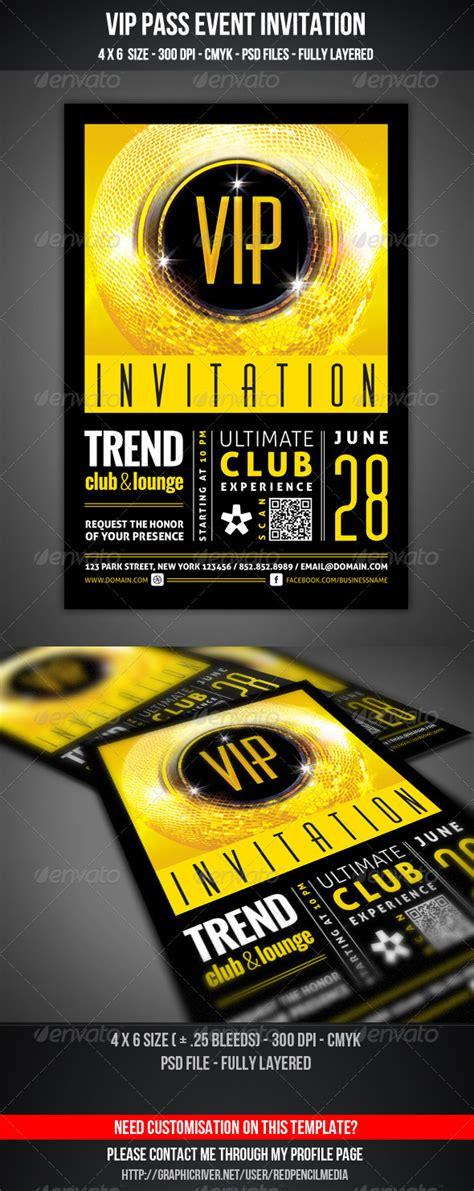 vip invitation card template vip club event invitation by redpencilmedia graphicriver
