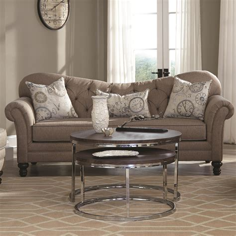 traditional button tufted sofa coaster carnahan traditional sofa with tufted reverse