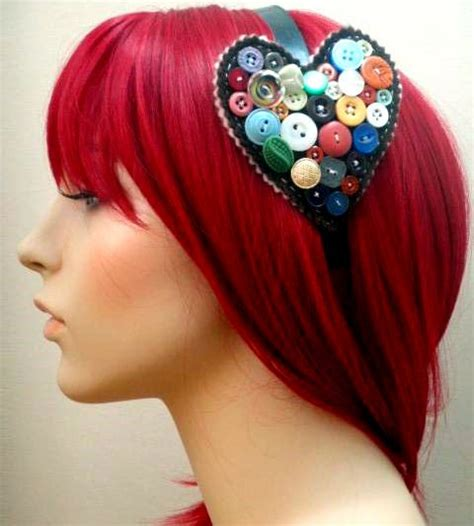 Handmade Headband Ideas - 118 best so many things to do with buttons images on