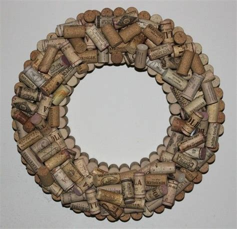cork wreath by great ideas wreaths posts and cork wreath
