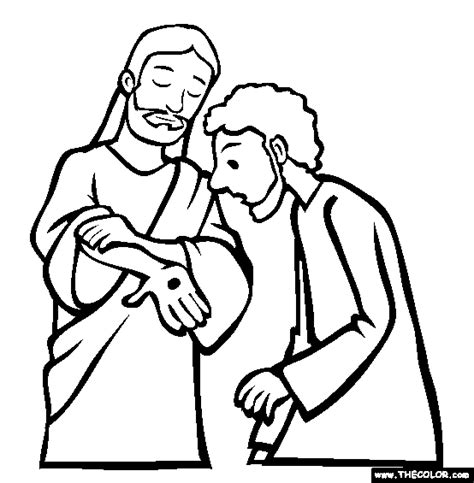 coloring page for doubting thomas doubting thomas thecolour com children s church