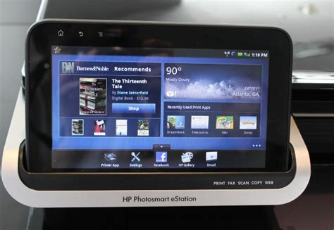 Printer Hp Android on with hp s photosmart estation printer and its detachable android tablet