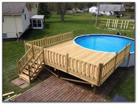 Above Ground Pool Deck Ideas Plans   Decks : Home