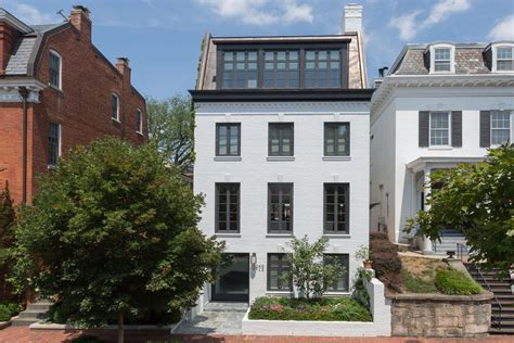 townhouse or house impeccable modern townhouse in georgetown with glass