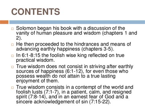 Solomon On The Vanity Of The World by Ecclesiastes