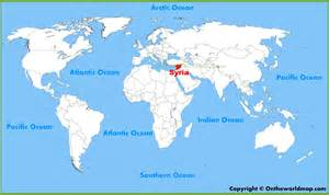 Syria Map World by Syria Location On The World Map