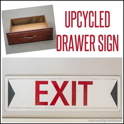 vintage exit sign from an drawer