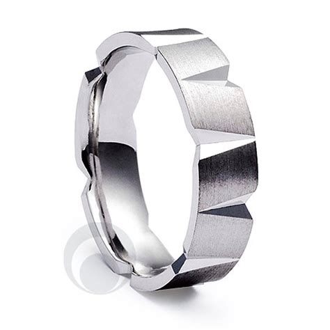 modern patterened platinum wedding ring wedding dress from the platinum ring company hitched co uk