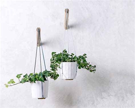 Hanging Plant Hooks - hanging planter with light blue thread wall planter indoor